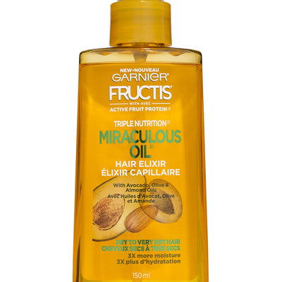 Garnier Hair Care Fructis Triple Nutrition Marvelous Oil Hair Elixir, 5.0 fl oz.