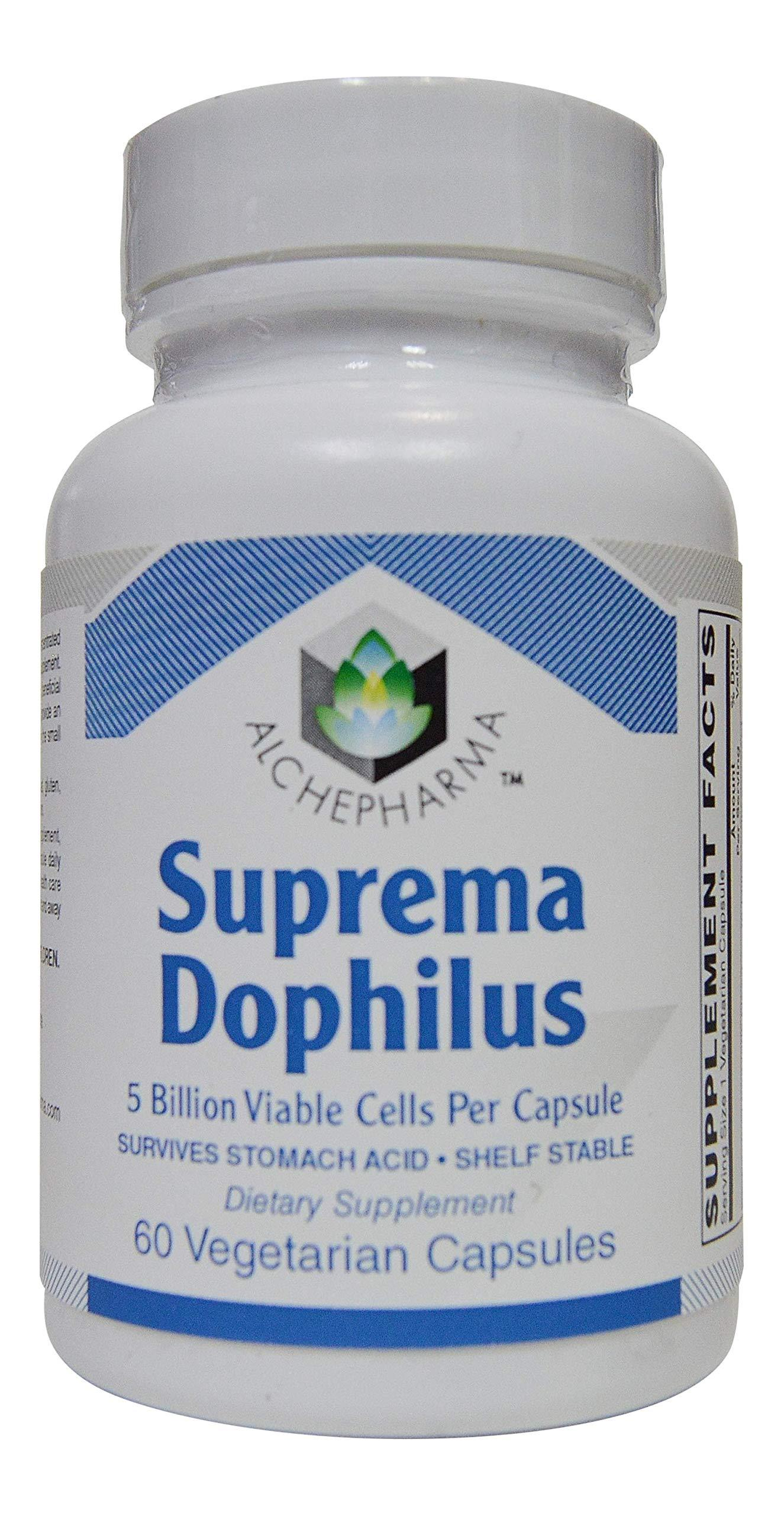 AlchePharma Suprema Dophilus (60 Veg Caps, Stomach Acid Resistant Strains) 60