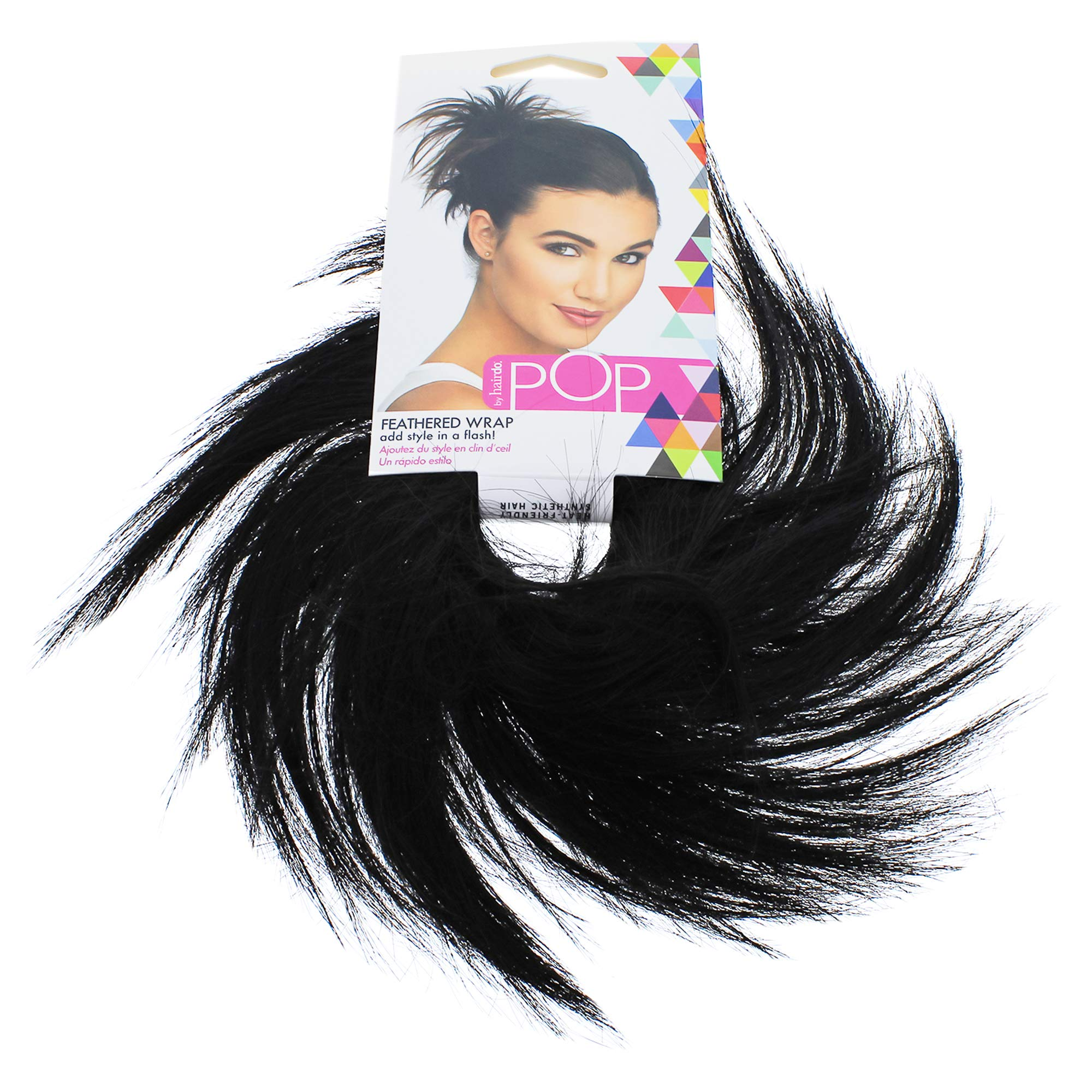 Hairdo Pop Feather Wrap, R2 Ebony