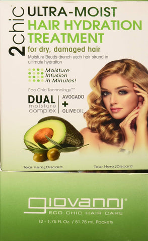 Giovanni Hair Care Products 2Chic, Hydra Trtmt, AVO Oli