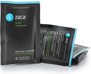 Zaca Recovery Chewable Supplement | Remedy for Hangovers, Exercise, Travel & Altitude | Vegan & Gluten Free | Mixed Berry, 6 Packs = 12 Tablets 12 Count (Pack of 6)