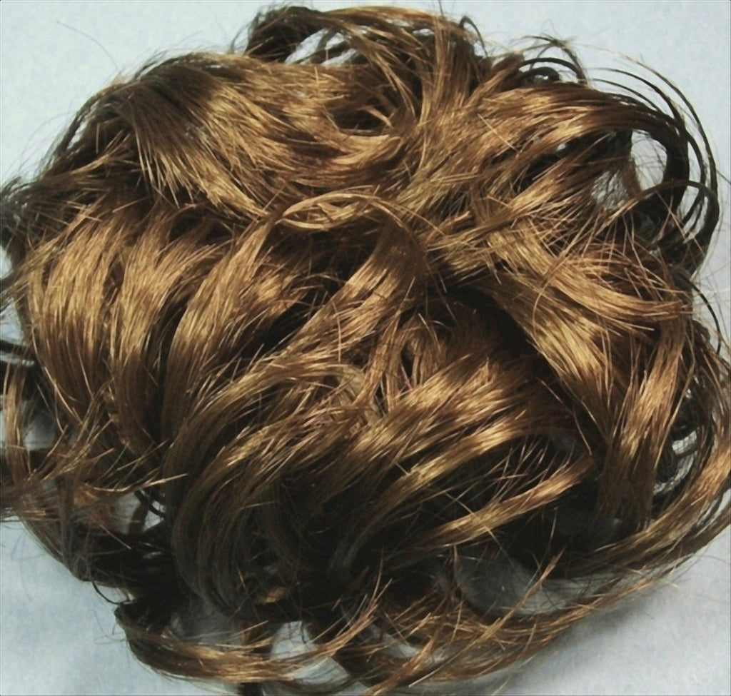 LACEY 3-inch Pony Fastener Hair Scrunchie by Mona Lisa - 14 Golden Ash Brown