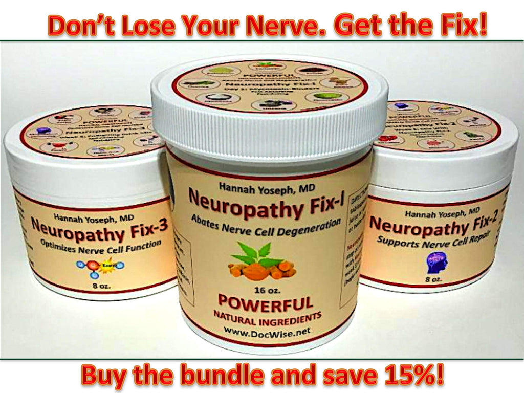 Lou Gehrig's ALS Neuropathy Treatment & Pain Relief MD-Formulated Neuropathy FIX 1, 2 & 3 Bundle: for Peripheral & Diabetic Neuropathy
