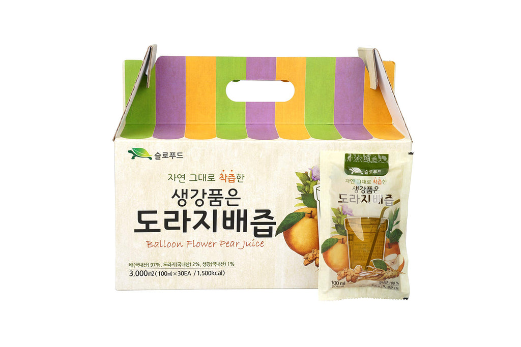 Premium Real Korean Pear, Balloon Flower Root, Ginger Juice - No Preservatives or Artificial Additives - Natural and Pure - Health Care for Changing Season - for Men and Women of All Ages