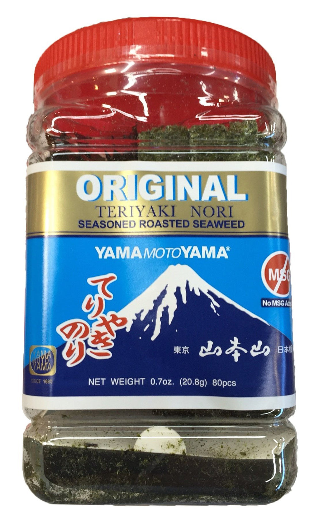 Teriyaki Nori Seasoned Roasted Seaweed (Original) 1 Jar 0.7oz
