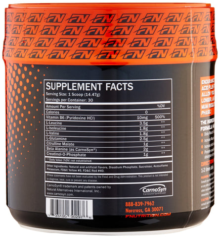 Formutech Nutrition Endurance BCAA Plus, Intra Workout Designed for Training Harder and Longer with Beta Alanine, Cotton Candy, 434 Gram
