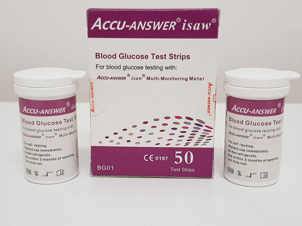 Accu-Answer isaw Blood Glucose Test Strip(2X25pcs)
