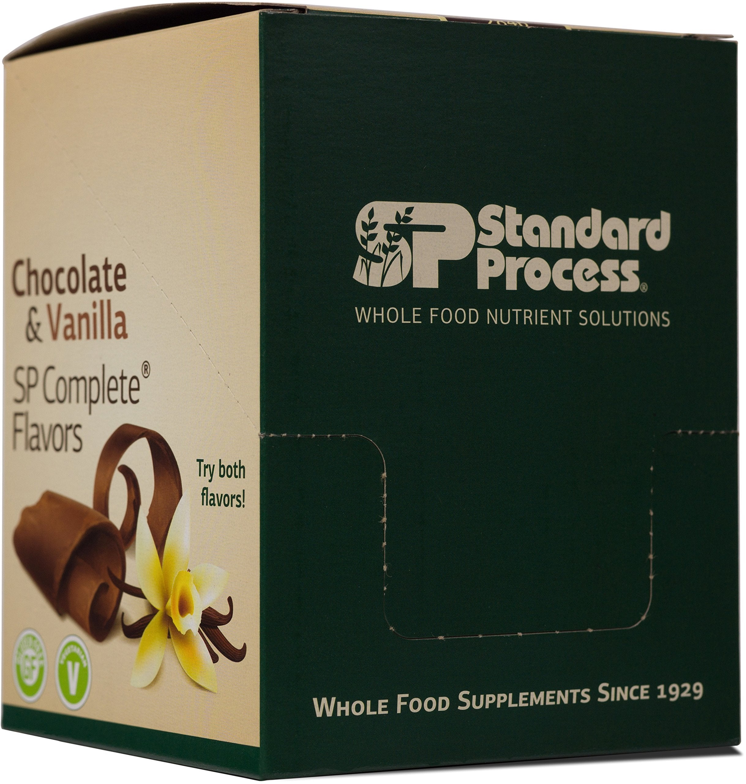 Standard Process - SP Complete Chocolate - Whole Food Nutritional Supplement, Protein, Calcium, Antioxidants, Gluten Free and Vegetarian - 10 Pouch Pack (1.1-oz. Packets)