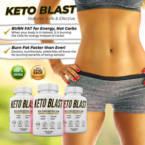 Keto Blast - Beta Hydroxybutyrate (BHB) - Enhanced Ketosis Activator Supply - 30 Day Supply