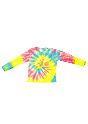 Coastline Long Sleeve - Neon Spiral Top Fairwell