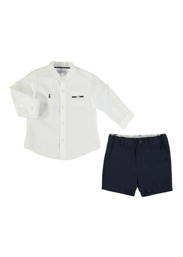 speckled polo and short set Set Mayoral