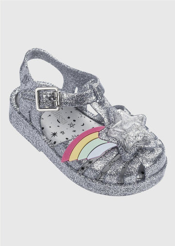 silver jelly Shoes Mini Melissa