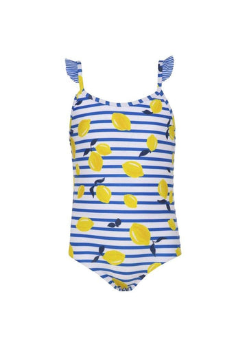 sicilian lemon frill strap swimsuit Swim Sunuva