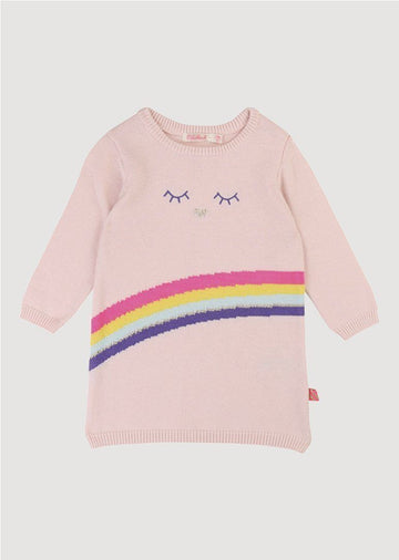 pink rainbow sweater dress Dress Billie Blush