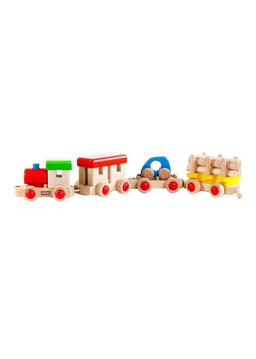 wooden train to build Toy Bajo