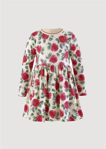 Red Rose Jersey Dress Dress Rachel Riley