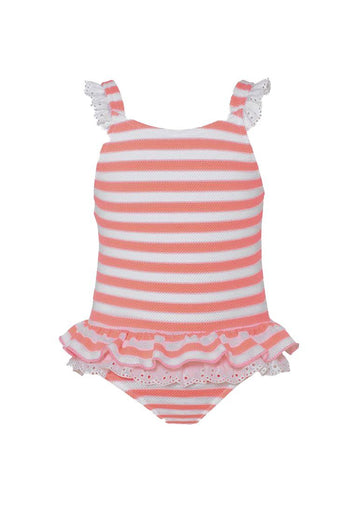 Textured Stripe Frill Swimsuit Swim Sunuva