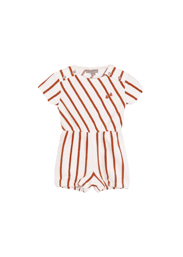 orange stripe romper Romper Emile et Ida