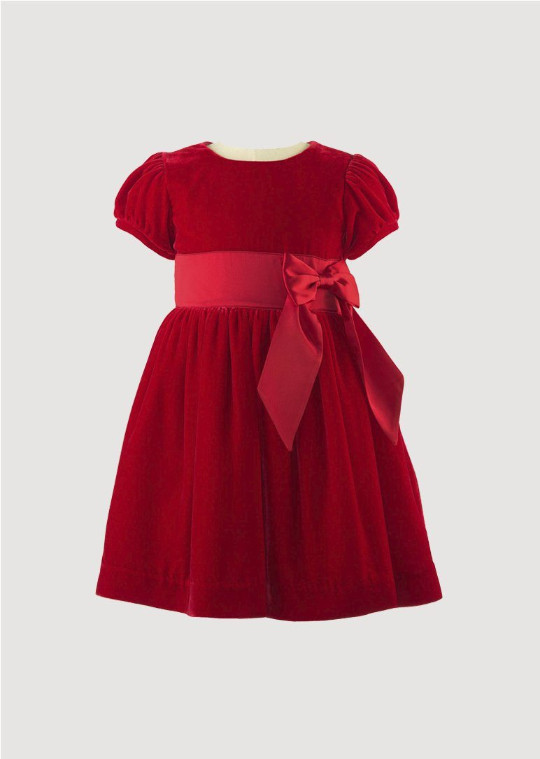 Red Velvet Maxi Bow Dress Dress Rachel Riley