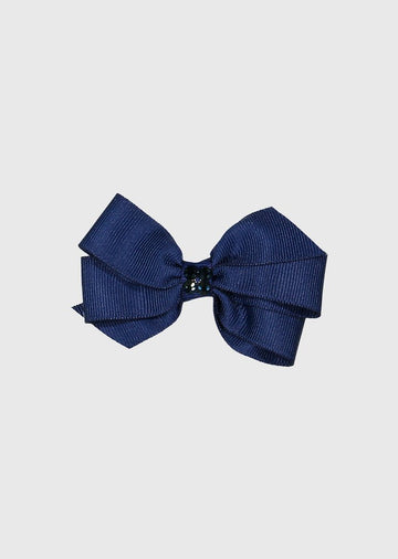 navy bow with center stones Accessory River and Rosy