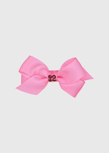 pink bow with center stones Accessory River and Rosy