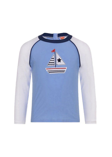 Little Boats Long Sleeve Rash Guard Swim Sunuva