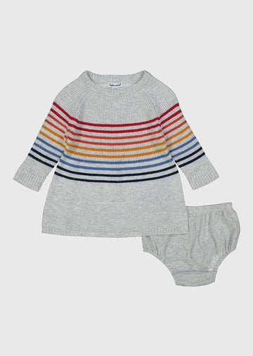 Rainbow stripe dress set with bloomers Set Splendid
