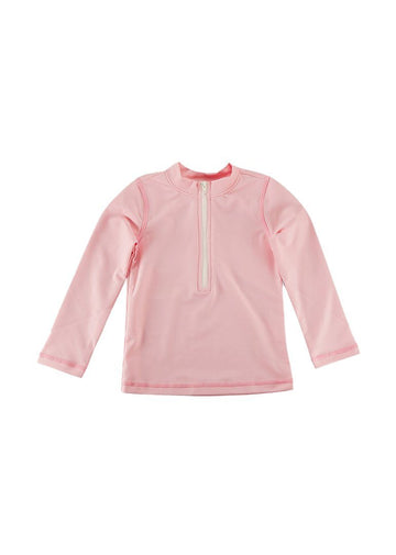 Graham Long Sleeve Rash Guard - Pink Swim Giggle