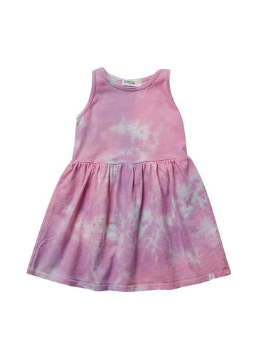 Jess Sparkling Pink Tie-Dye Dress Dress Little Moon Society