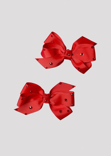 red bow set with stones Accessory River and Rosy