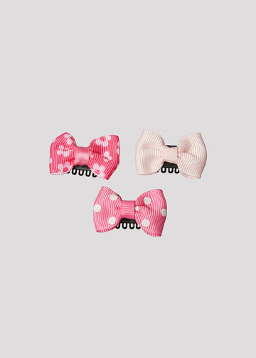 flower dot bow set Accessory River and Rosy