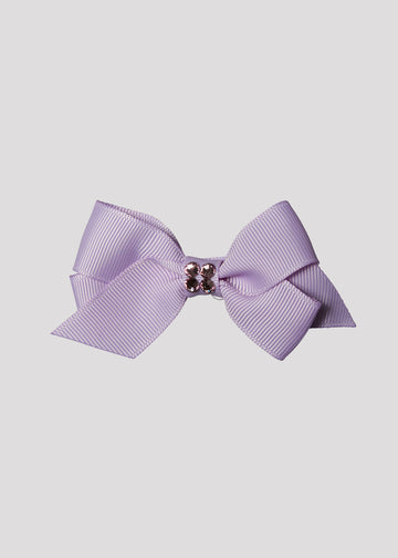purple bow with center stones Accessory River and Rosy