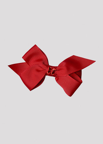 red bow with center stones Accessory River and Rosy