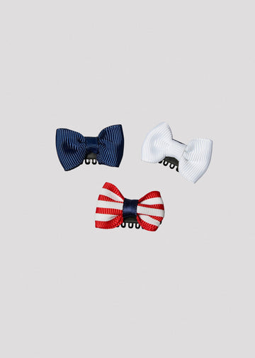 solids and stripes bow set Accessory River and Rosy