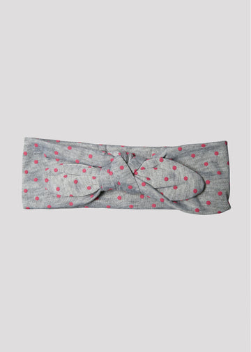 grey dots baby headband Accessory River and Rosy