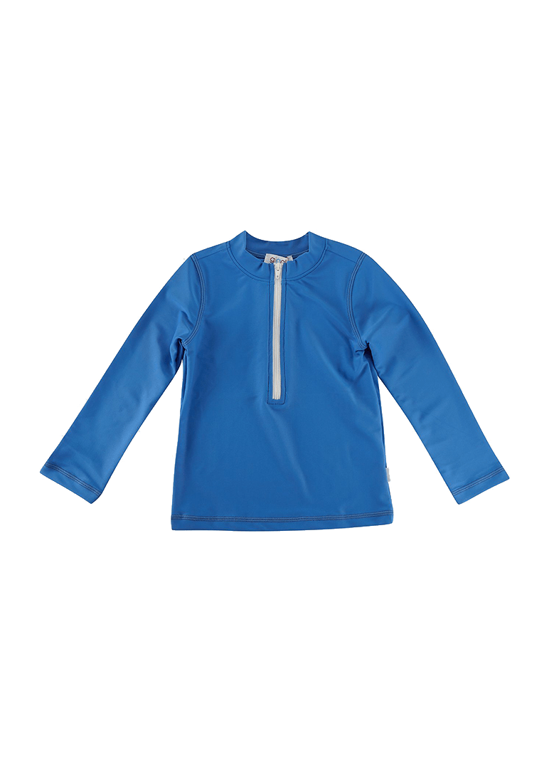 Graham Long Sleeve Rash Guard - Blue Swim Giggle