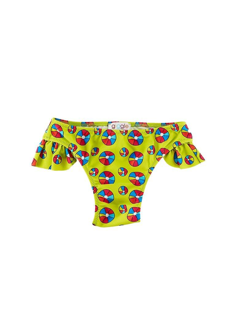 Jessica Ruffle Side Bottom - Beach Ball Swim Giggle