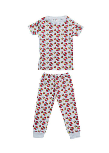 Rainbow Beach Ball Short Sleeve Pajama Pajamas Giggle