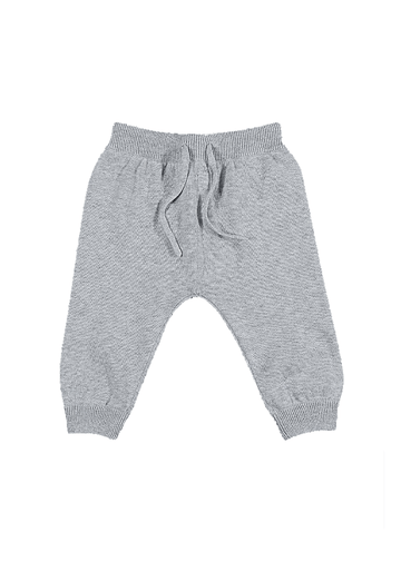 Peyton Cotton Knit Pant - Grey Bottom Giggle