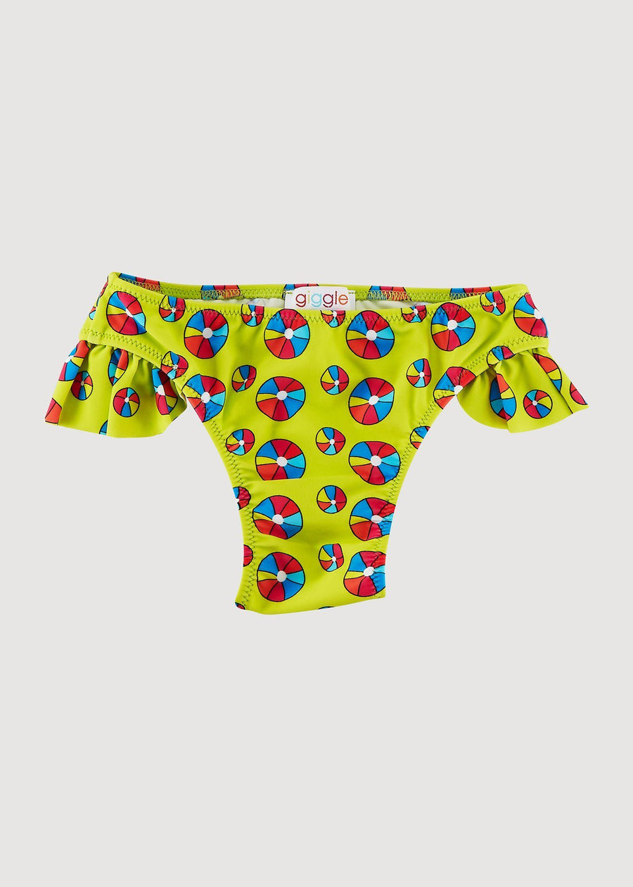 Jessica Ruffle Side Bottom - Beach Ball Swim Giggle 6M Beach Ball