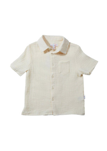 Samuel Short-Sleeve Button-Down Top Giggle