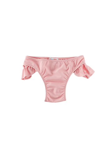 Jessica Ruffle Side Bottom - Pink Swim Giggle