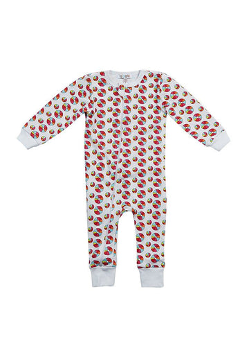Rainbow Beach Ball Onesie Pajamas Giggle