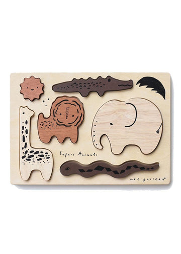 Wooden Tray Puzzle - Safari Animals Toy Wee Gallery