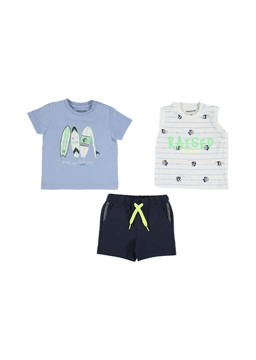 bermuda short set with two shirts Set Mayoral