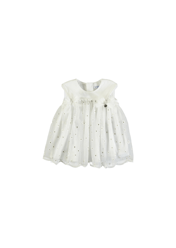 daisy embroidered tulle dress Dress mayoral