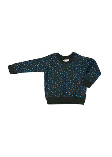 Blue Star Print Sweatsuit Top Top Giggle