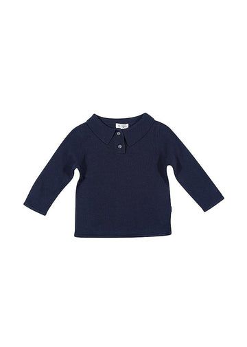 Kelly Polo Sweater Shirt - Navy Top Giggle