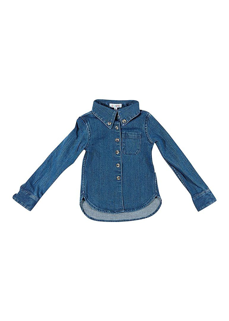 Levi Twill Boy Shirt - Chambray Top Giggle