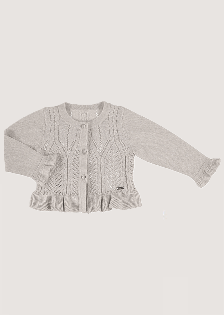 Lurex Cardigan - Beige Sweater Mayoral